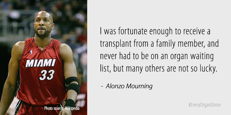 Alonzo Mourning  How organ donation saved my life - Every Organ Donor 3315167c7