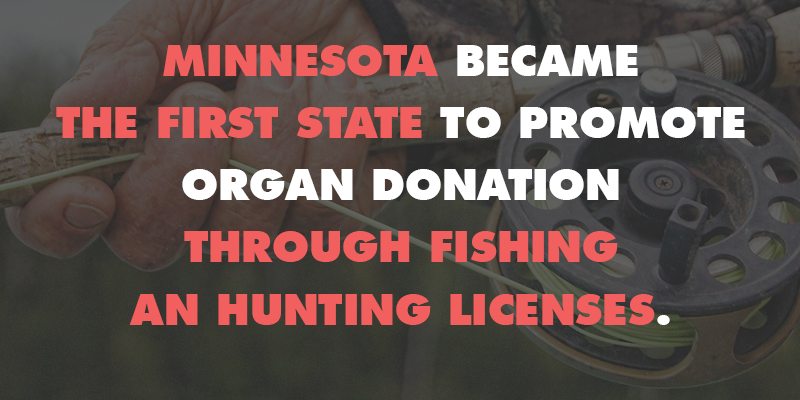 Minnesota organ donation is now promoted through fishing for Where to buy fishing license mn